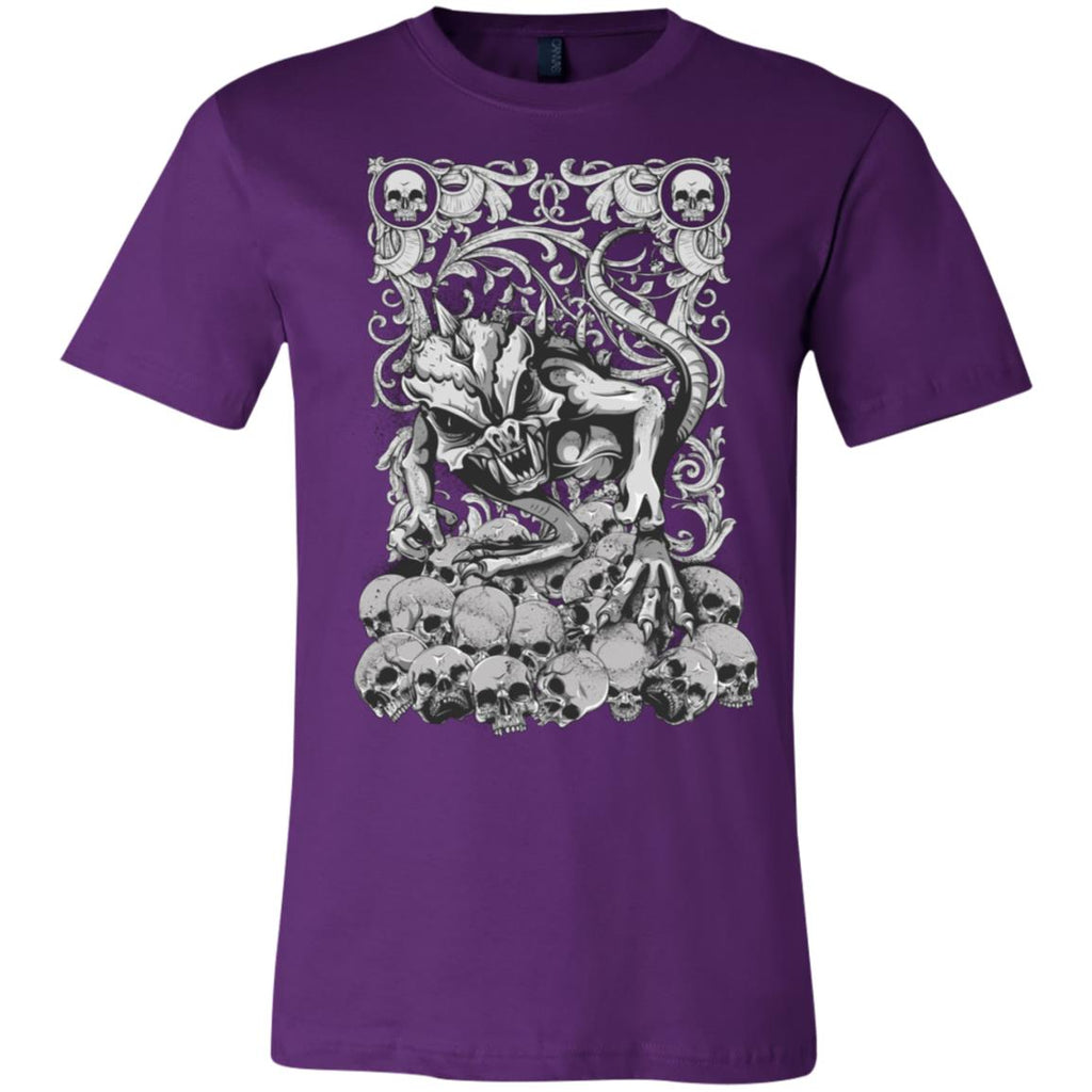 D411 Goth Skulls 3001C Bella + Canvas Unisex Jersey Short-Sleeve T-Shirt, T-Shirts, Whip Me Wear Fashion & T-Shirts