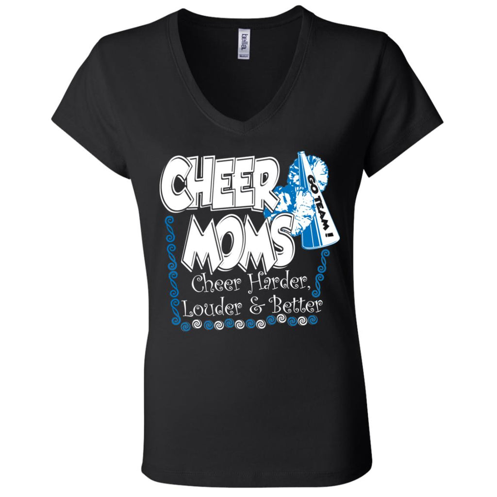 C04 Cheer Moms B6005 Ladies' Jersey V-Neck T-Shirt, T-Shirts, Whip Me Wear Fashion & T-Shirts