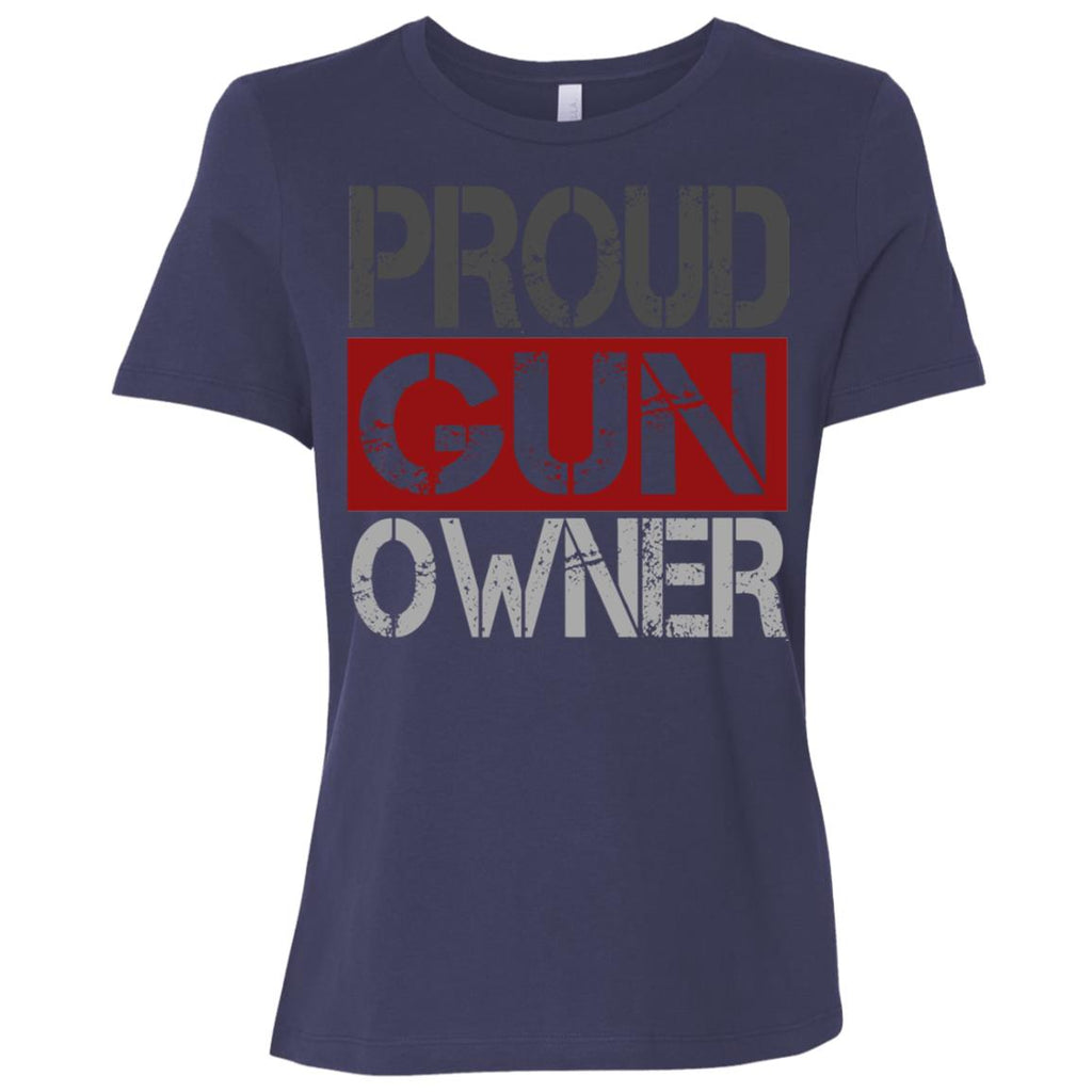 560 Proud Gun Owner B6400 Bella + Canvas Ladies' Relaxed Jersey Short-Sleeve T-Shirt, T-Shirts, Whip Me Wear Fashion & T-Shirts