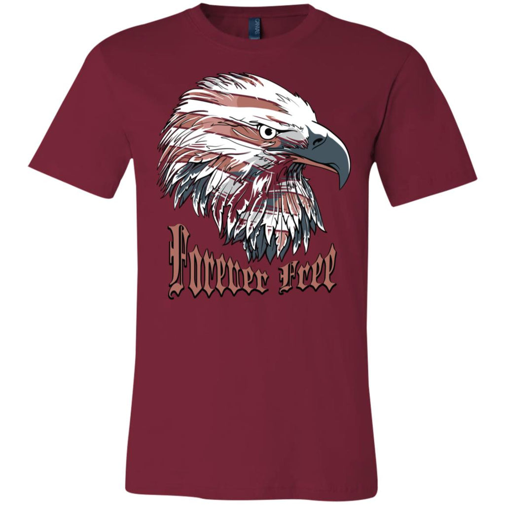 D558 Forever Free Eagle 3001C Bella + Canvas Unisex Jersey Short-Sleeve T-Shirt, T-Shirts, Whip Me Wear Fashion & T-Shirts