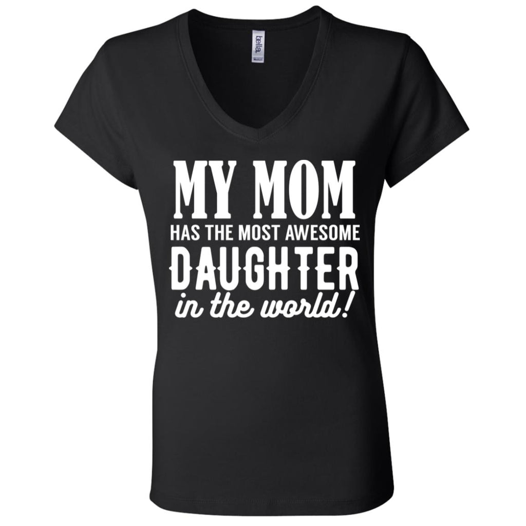 146 Mom Daughter B6005 Bella + Canvas Ladies' Jersey V-Neck T-Shirt, T-Shirts, Whip Me Wear Fashion & T-Shirts