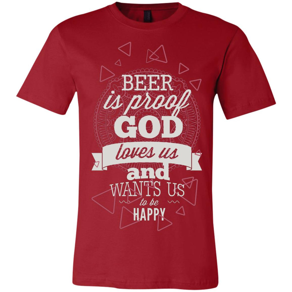 D995 God Wanted Beer 3001C Bella + Canvas Unisex Jersey Short-Sleeve T-Shirt, T-Shirts, Whip Me Wear Fashion & T-Shirts
