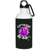 A-1 Espresso Whip Me 20 oz. Stainless Steel Water Bottle, Drinkware, Whip Me Wear Fashion & T-Shirts