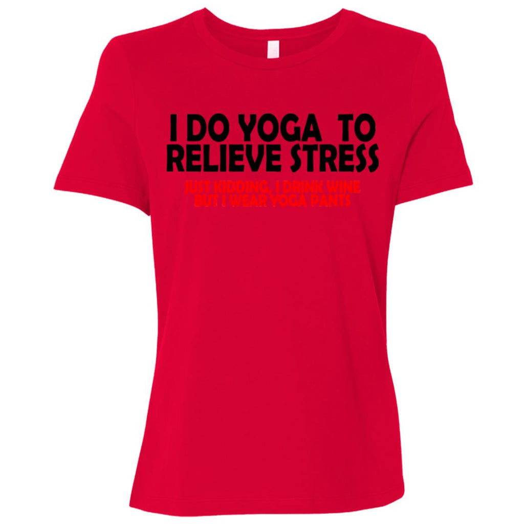 Z01 Yoga To Relieve Stress B6400 Bella + Canvas Ladies' Relaxed Jersey Short-Sleeve T-Shirt, T-Shirts, Whip Me Wear Fashion & T-Shirts