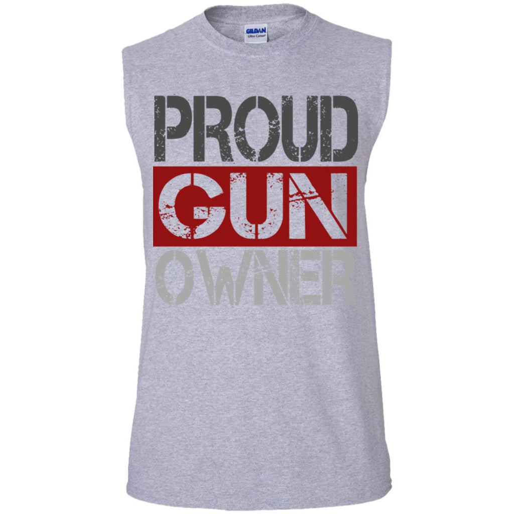 560 Proud Gun Owner G270 Gildan Men's Ultra Cotton Sleeveless T-Shirt, T-Shirts, Whip Me Wear Fashion & T-Shirts
