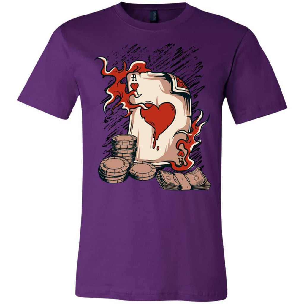 D606 Vintage Ace Hearts 3001C Bella + Canvas Unisex Jersey Short-Sleeve T-Shirt, T-Shirts, Whip Me Wear Fashion & T-Shirts