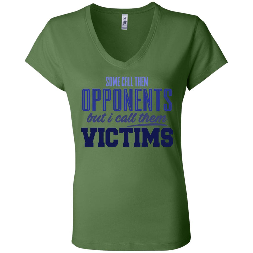 270 Opponents Victims B6005 Bella + Canvas Ladies' Jersey V-Neck T-Shirt, T-Shirts, Whip Me Wear Fashion & T-Shirts