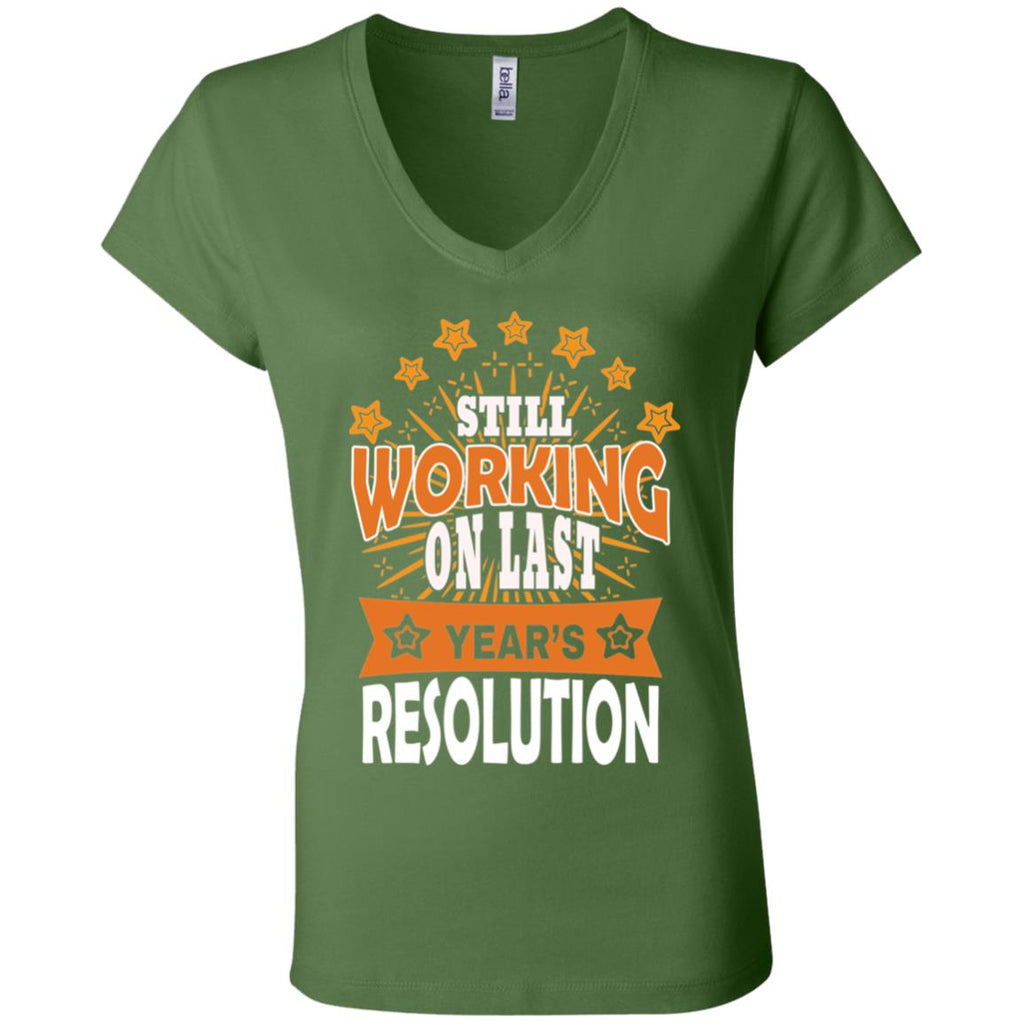 D1524 Last Years Resolution B6005 Bella + Canvas Ladies' Jersey V-Neck T-Shirt, T-Shirts, Whip Me Wear Fashion & T-Shirts