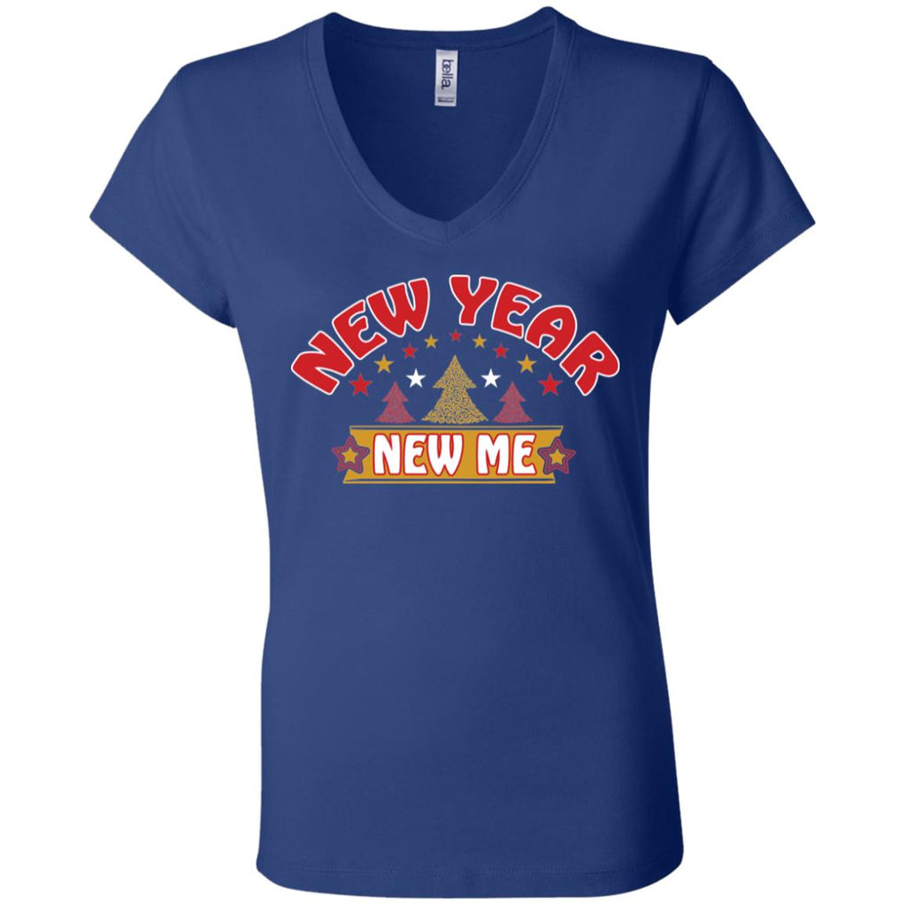 D1527 New Year New Me B6005 Bella + Canvas Ladies' Jersey V-Neck T-Shirt, T-Shirts, Whip Me Wear Fashion & T-Shirts