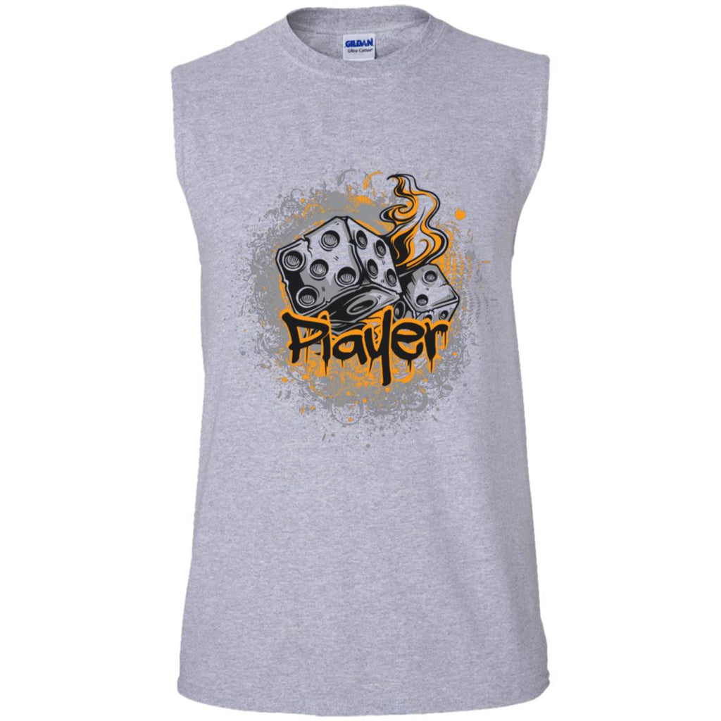 D527 Vintage Dice G270 Gildan Men's Ultra Cotton Sleeveless T-Shirt, T-Shirts, Whip Me Wear Fashion & T-Shirts