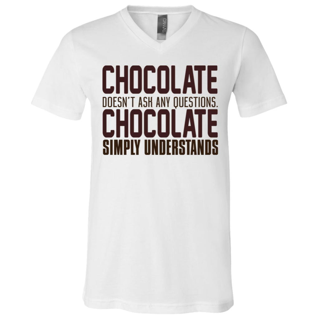 390 Chocolate Understands 3005 Bella + Canvas Unisex Jersey SS V-Neck T-Shirt, T-Shirts, Whip Me Wear Fashion & T-Shirts