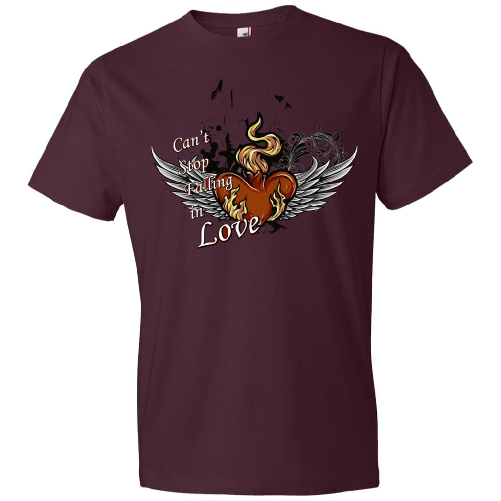 V463 Can't Stop Falling In Love 980 Anvil Lightweight T-Shirt 4.5 oz, T-Shirts, Whip Me Wear Fashion & T-Shirts