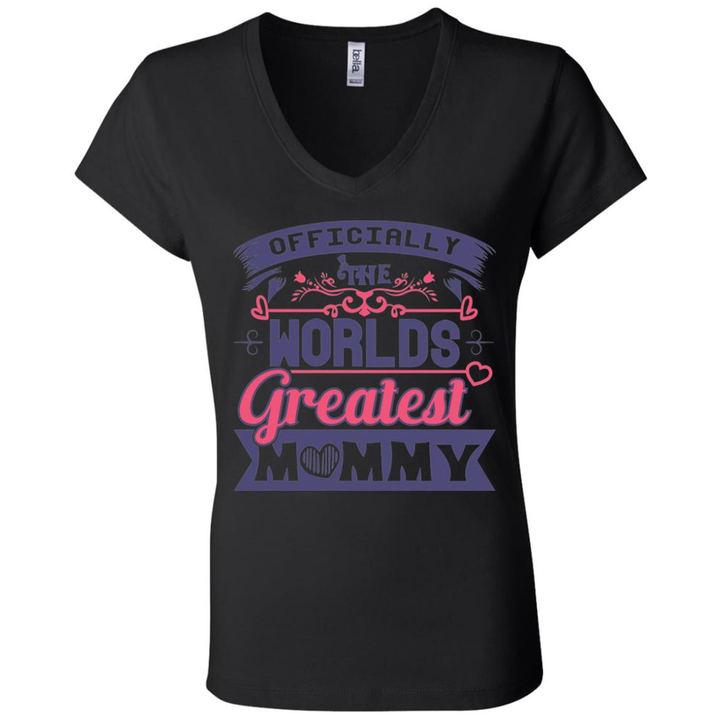 D1559 Great Mommy B6005 Ladies' Jersey V-Neck T-Shirt, T-Shirts, Whip Me Wear Fashion & T-Shirts