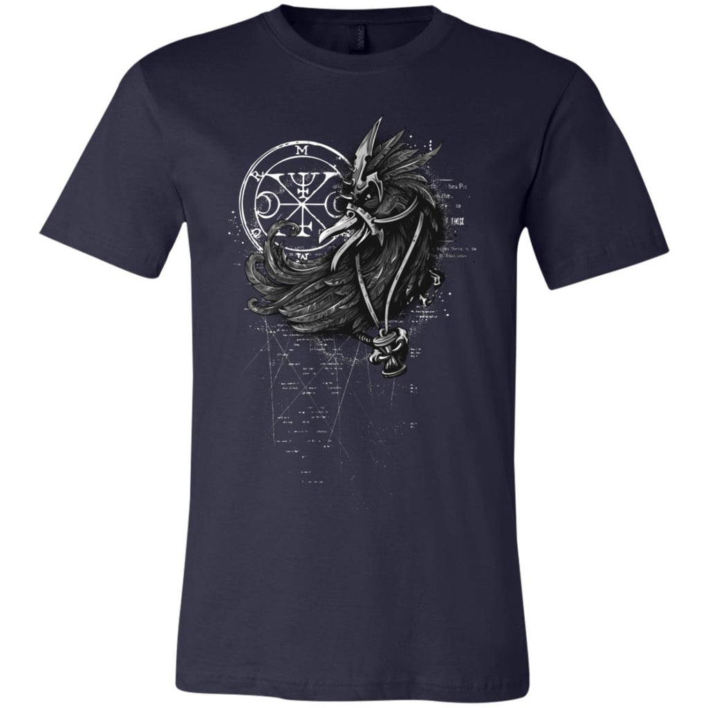 D409 Goth Crow 3001C Bella + Canvas Unisex Jersey Short-Sleeve T-Shirt, T-Shirts, Whip Me Wear Fashion & T-Shirts