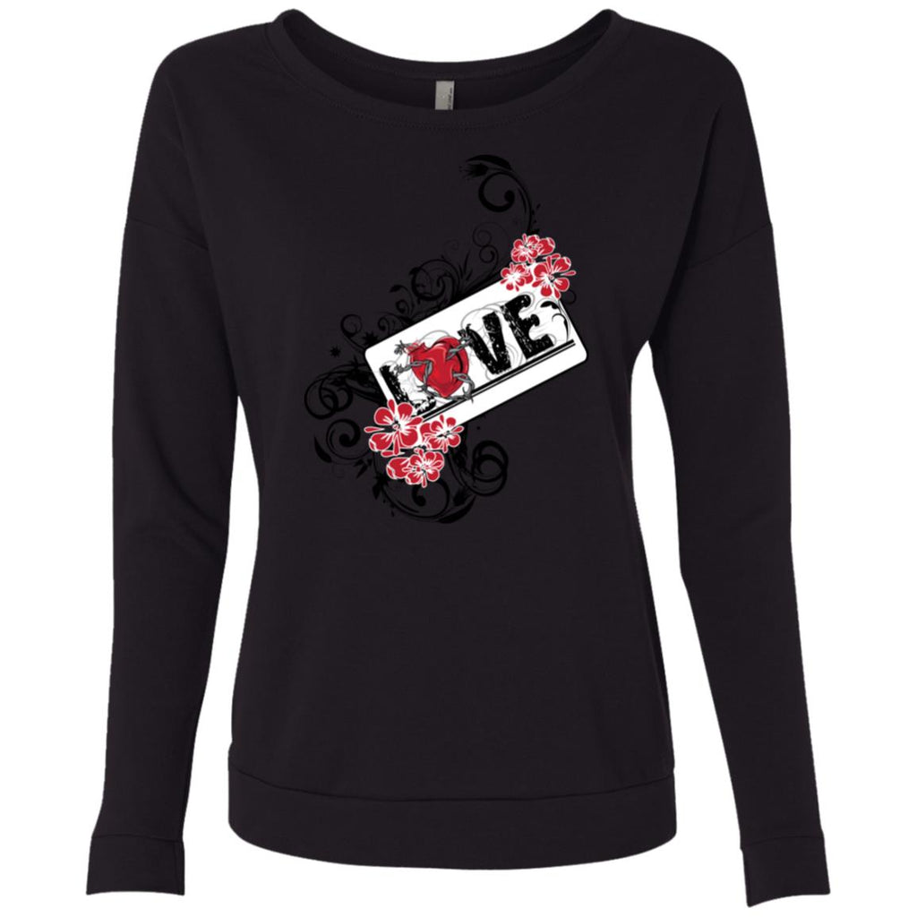 D121 Love Graphic NL6931 Next Level Ladies' French Terry Scoop, Sweatshirts, Whip Me Wear Fashion & T-Shirts