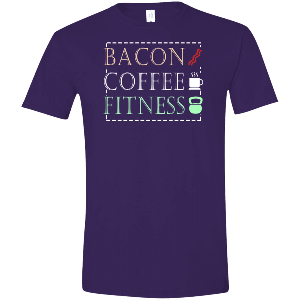 602 Bacon Coffee Fitness G640 Gildan Softstyle T-Shirt, T-Shirts, Whip Me Wear Fashion & T-Shirts