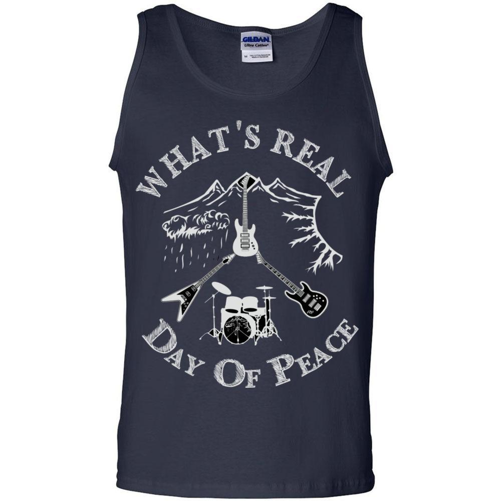 Day Of Peace Rock Shirt Men's Ultra Cotton Tank Top Gildens, Tank Tops, Whip Me Wear Fashion & T-Shirts