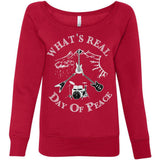 Women's Sponge Fleece Wideneck Sweatshirt Day Of Peace Rock Shirt, Fleece, Whip Me Wear Fashion & T-Shirts