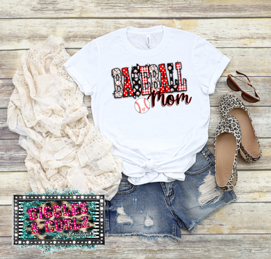 BASEBALL MOM Graphic Tee