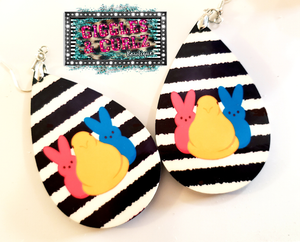 EASTER PEEPS TEARDROP EARRINGS