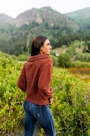 Bonfire Nights Sweater In Rust