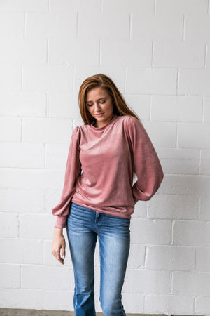 Cozy Corduroy Blouse - ALL SALES FINAL