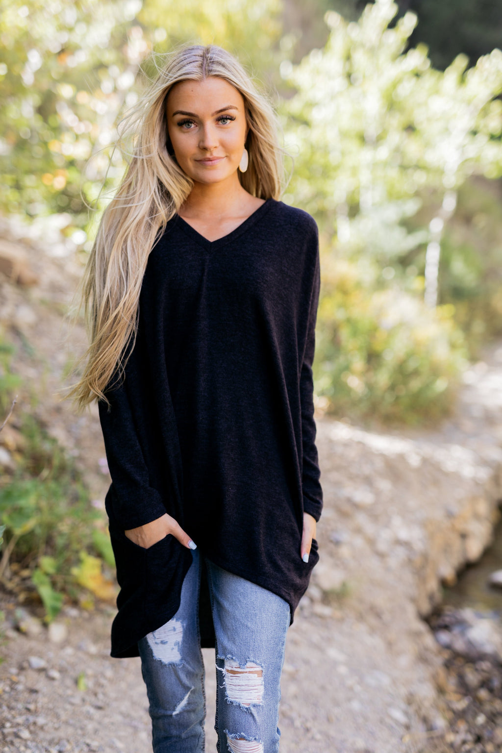 Creature Comforts Tunic In Navy