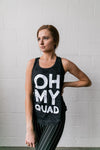 Oh My Quad Burnout Tank In Black - ALL SALES FINAL