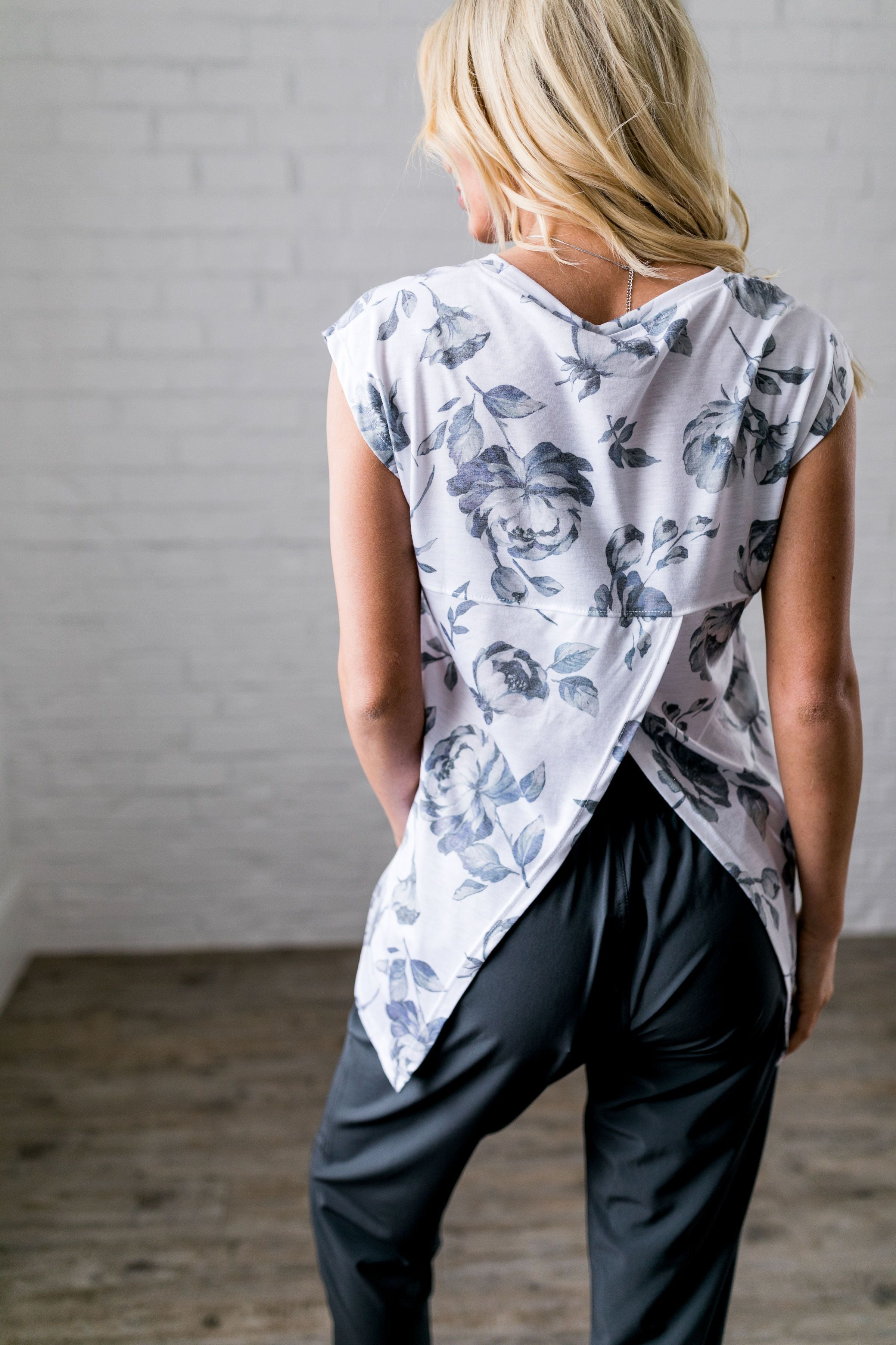 Shadowbox Floral Athleisure Top