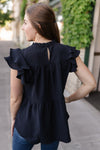 Midnight Black Tiered Ruffle Top-[option4]-[option5]-[option6]-[option7]-[option8]-Womens-Clothing-Shop