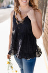 I Love Eyelet Black Button Top-[option4]-[option5]-[option6]-[option7]-[option8]-Womens-Clothing-Shop