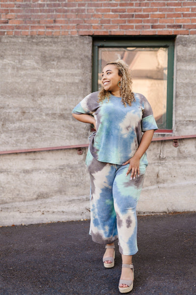 Arctic Waters Oil Spill Tie Dye Top-[option4]-[option5]-[option6]-[option7]-[option8]-Womens-Clothing-Shop