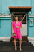 Pink Tiered V-Neck Dress-[option4]-[option5]-[option6]-[option7]-[option8]-Womens-Clothing-Shop
