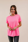 To Lounge Or Bike Top In Hot Pink-[option4]-[option5]-[option6]-[option7]-[option8]-Womens-Clothing-Shop