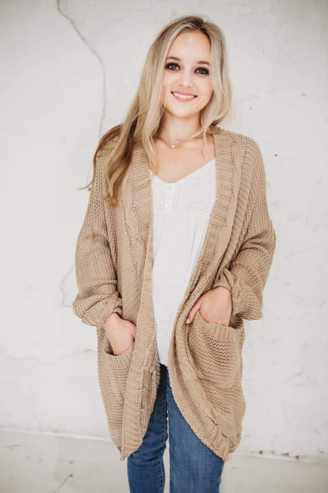 Chloe Knit Cardigan * Pre Order late October delivery *-[option4]-[option5]-[option6]-[option7]-[option8]-Womens-Clothing-Shop