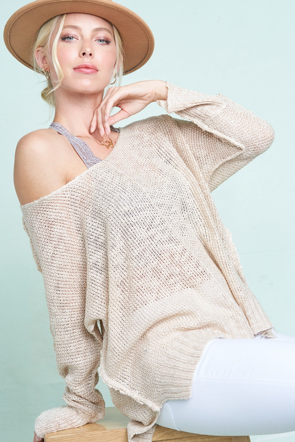 Taylor Spring Sweater In Natural-[option4]-[option5]-[option6]-[option7]-[option8]-Womens-Clothing-Shop