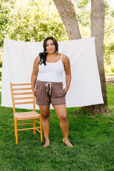 24/7 Shorts In Mocha-[option4]-[option5]-[option6]-[option7]-[option8]-Womens-Clothing-Shop