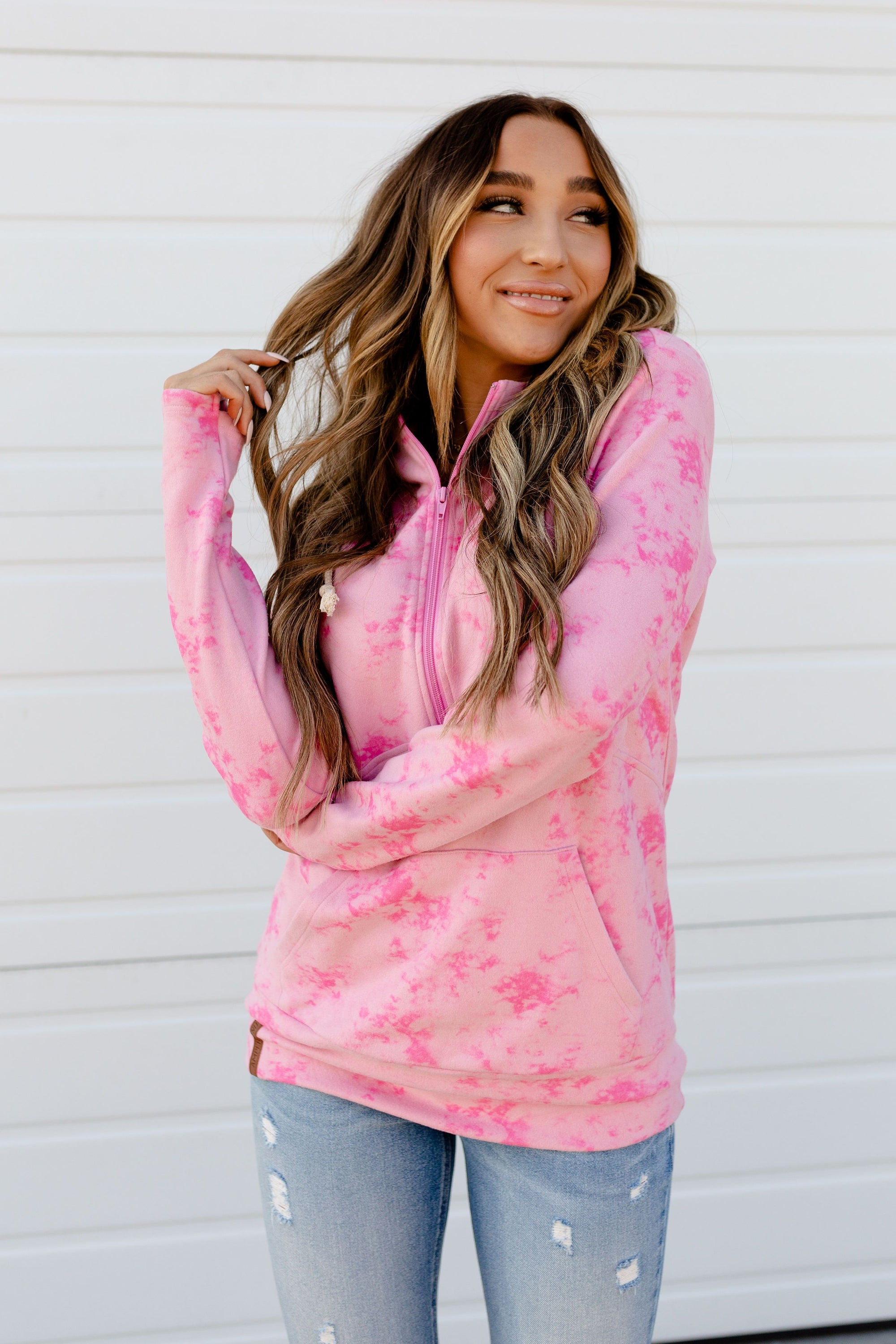 Regina George Pink Halfzip Sweatshirt-[option4]-[option5]-[option6]-[option7]-[option8]-Womens-Clothing-Shop