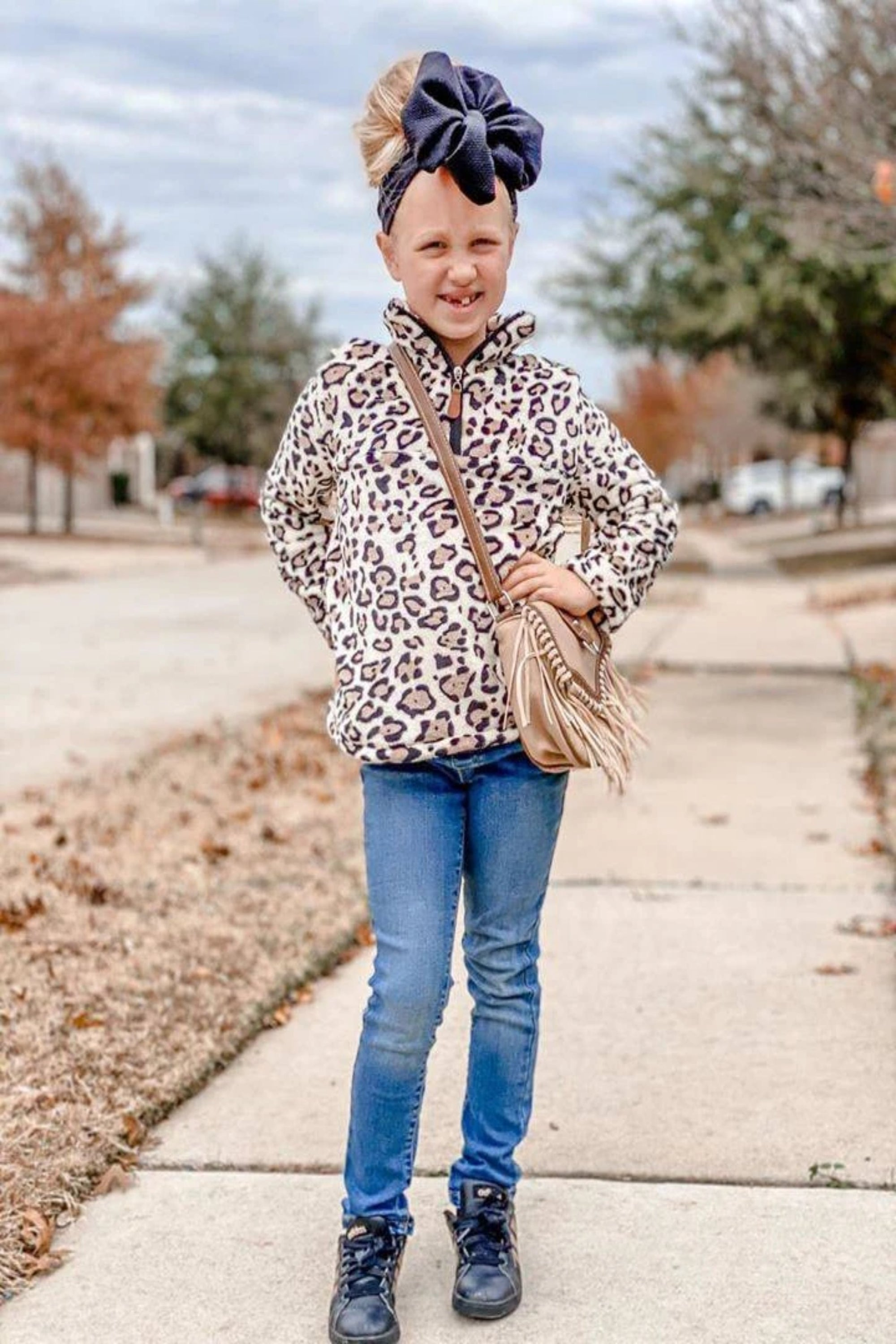 Leopard Pullover Child + Adult