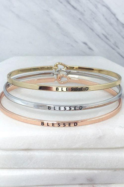 Blessed Rose Gold Bracelet-Rose Gold-[option4]-[option5]-[option6]-[option7]-[option8]-Womens-Clothing-Shop