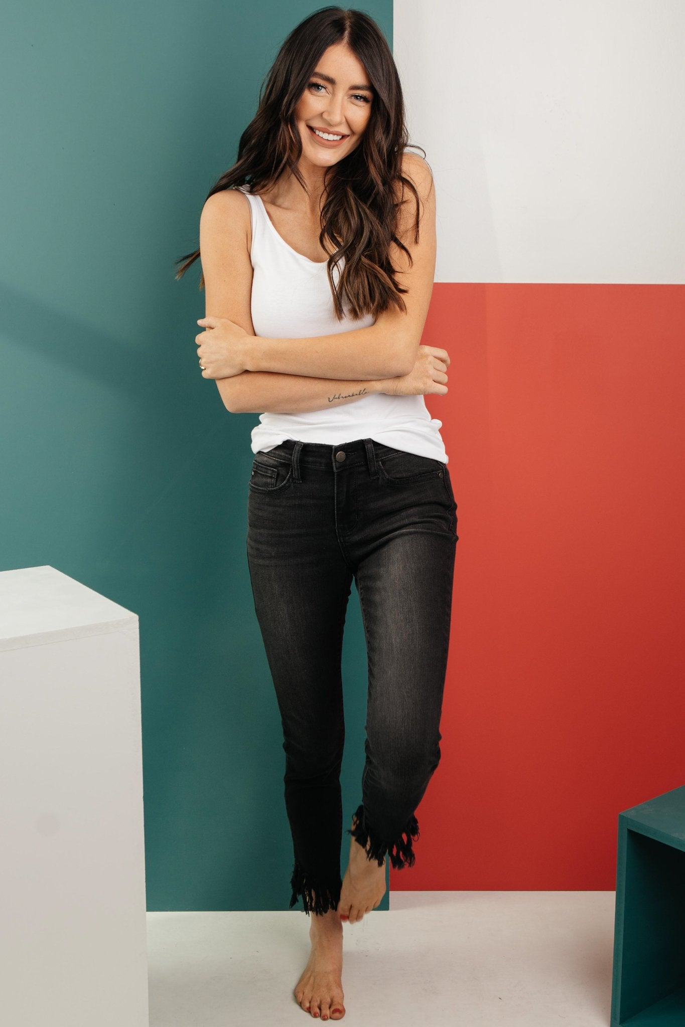 A Shred Of Confidence Black Jeans-[option4]-[option5]-[option6]-[option7]-[option8]-Womens-Clothing-Shop