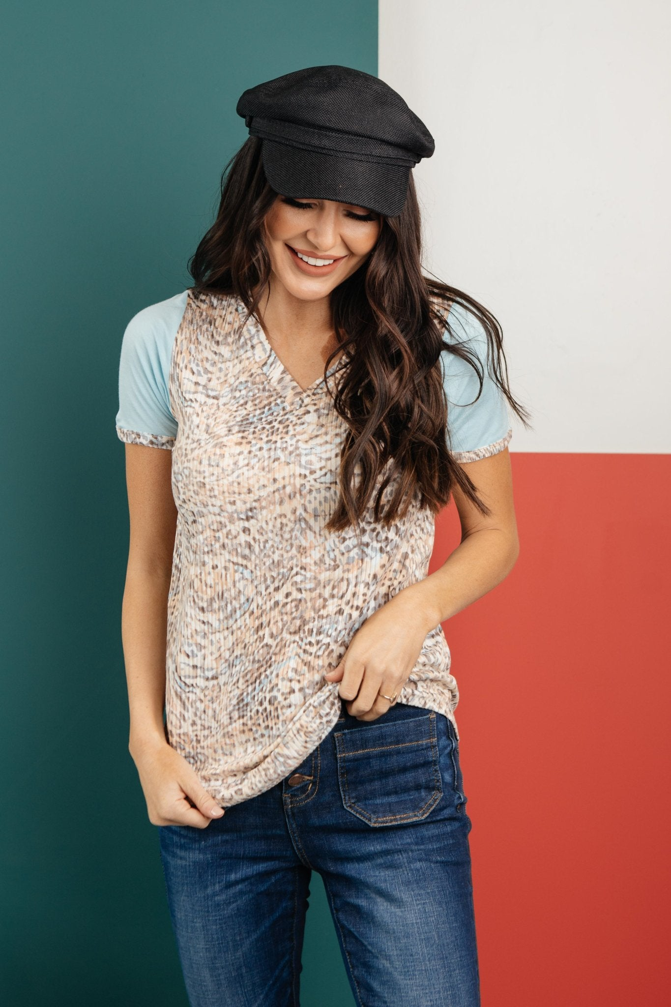 A Soft Spot For Prints in Blue-[option4]-[option5]-[option6]-[option7]-[option8]-Womens-Clothing-Shop
