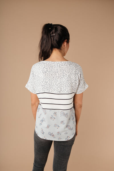 All Mixed Up Top In Gray-[option4]-[option5]-[option6]-[option7]-[option8]-Womens-Clothing-Shop