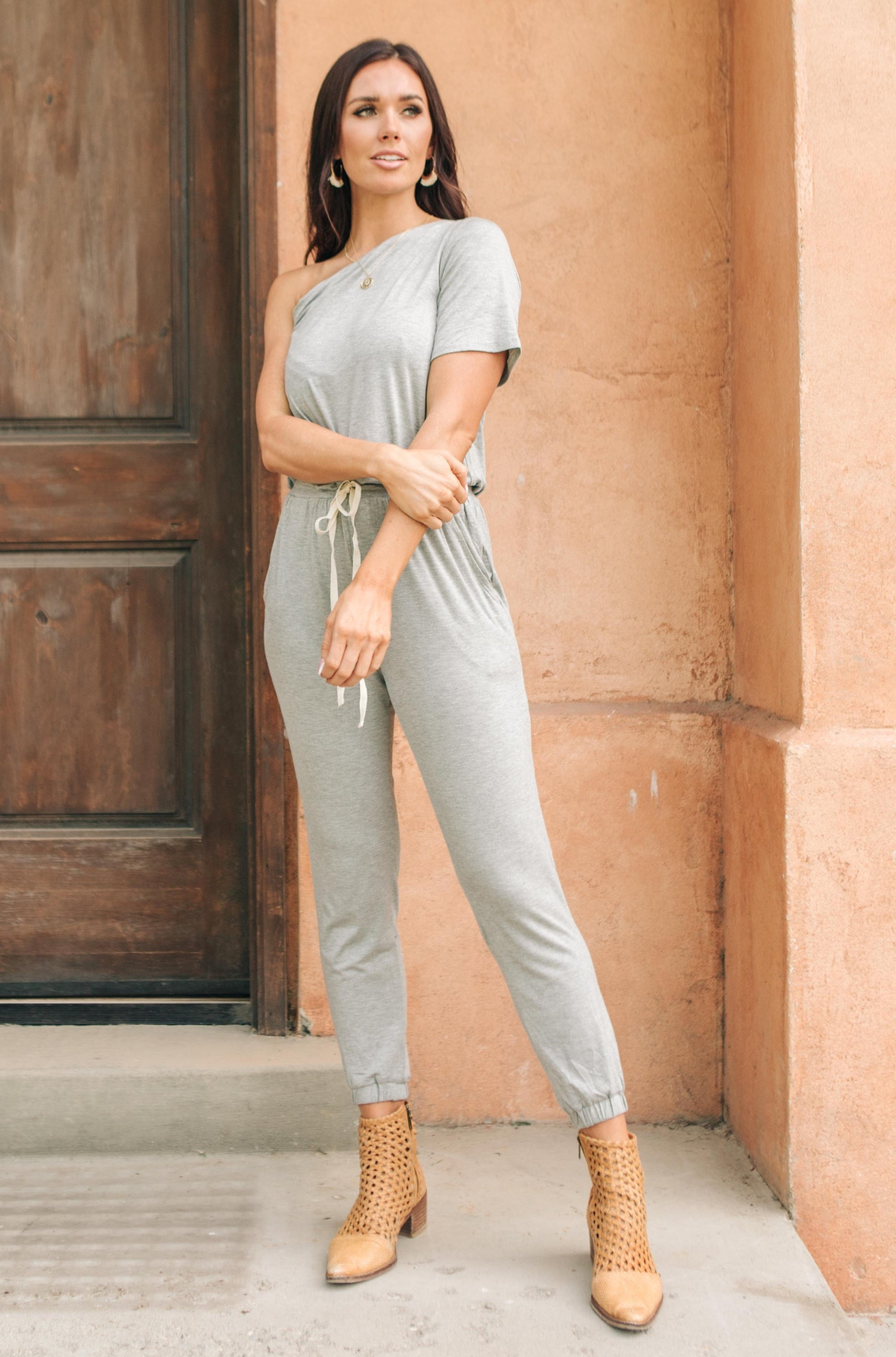Arm And A Leg Jumpsuit In Gray-[option4]-[option5]-[option6]-[option7]-[option8]-Womens-Clothing-Shop