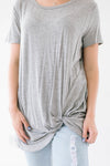 Gray Knot Top-[option4]-[option5]-[option6]-[option7]-[option8]-Womens-Clothing-Shop