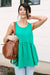 Basic Babydoll Tank In Kelly Green-[option4]-[option5]-[option6]-[option7]-[option8]-Womens-Clothing-Shop