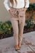 Business Woman Paperbag Pants in Khaki-[option4]-[option5]-[option6]-[option7]-[option8]-Womens-Clothing-Shop