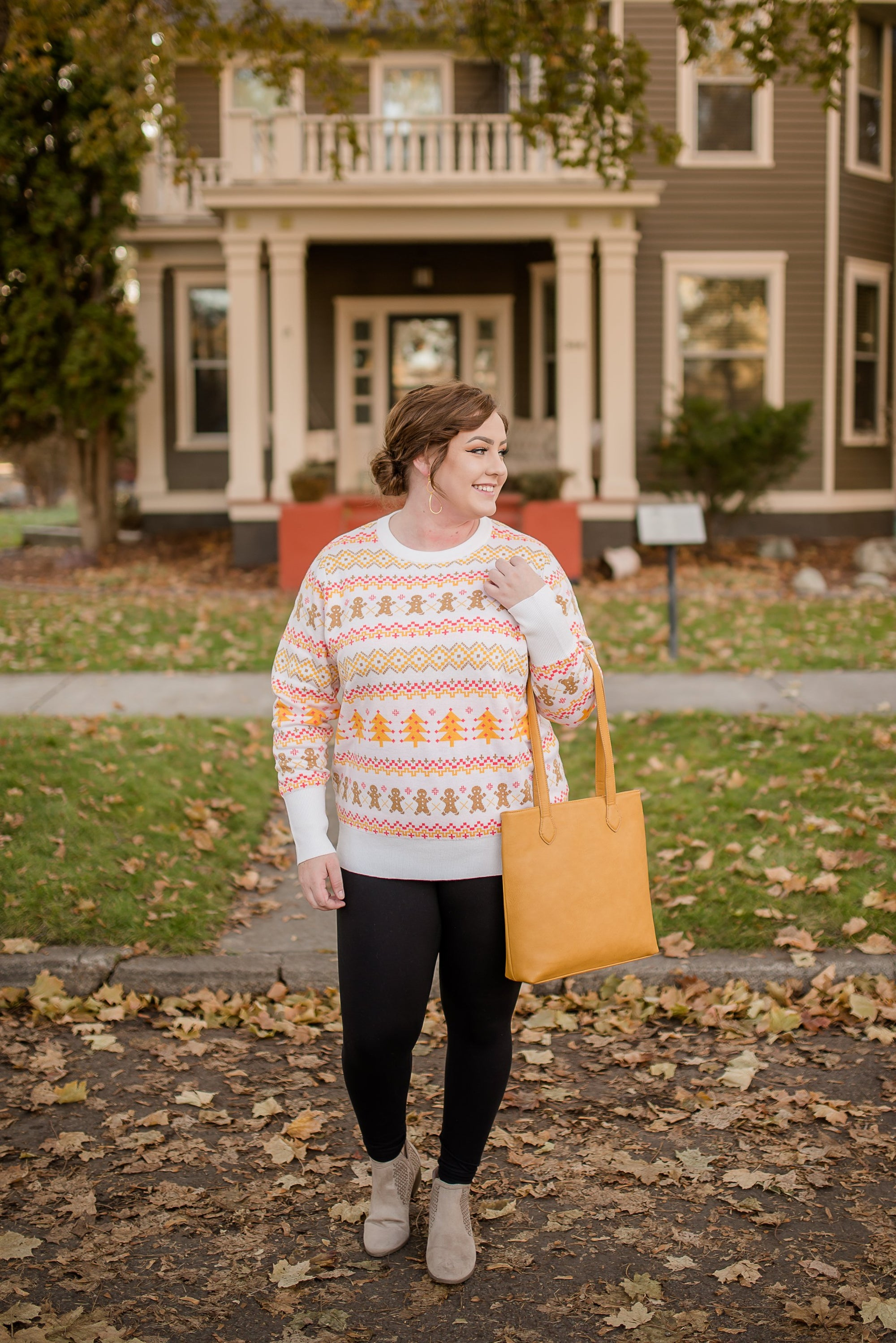 Catch Me If You Can Gingerbread Man Sweater-[option4]-[option5]-[option6]-[option7]-[option8]-Womens-Clothing-Shop