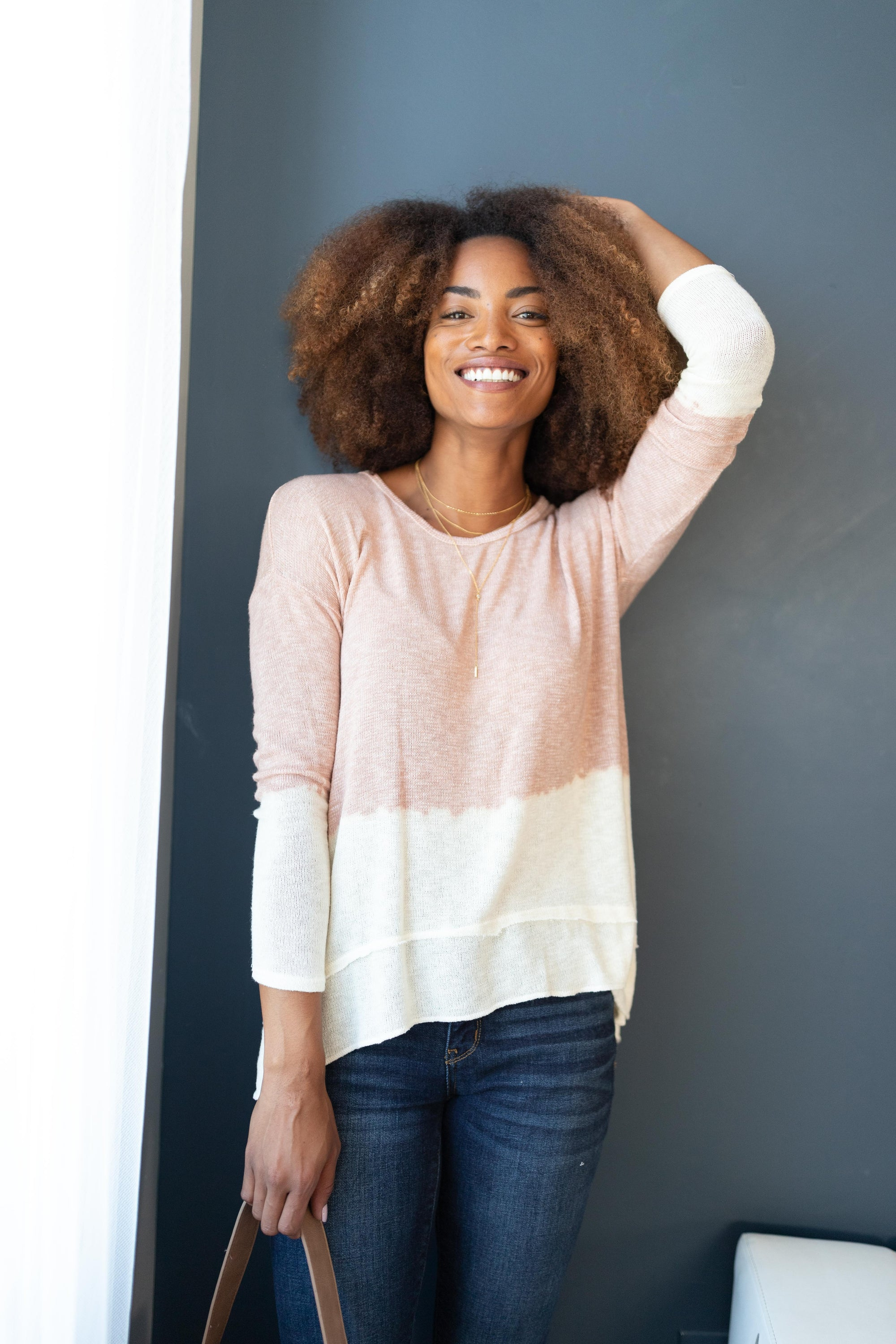 Delightfully Dipped Dusty Rose Top-[option4]-[option5]-[option6]-[option7]-[option8]-Womens-Clothing-Shop