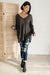 Distressed and Proud Sweater in Black-[option4]-[option5]-[option6]-[option7]-[option8]-Womens-Clothing-Shop